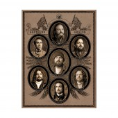 Zac Brown Band Founding Fathers Digital Print