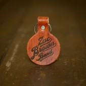 Wood Grain Logo Keychain