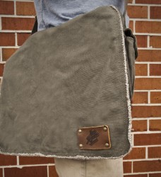 ZBB Army-Green Messenger Bag