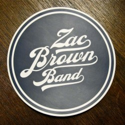 Round Zac Brown Band sticker