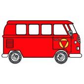 VW Microbus Static Sticker