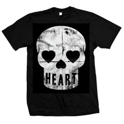 Heart Black Skull Tee