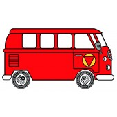 VW Microbus Static Sticker